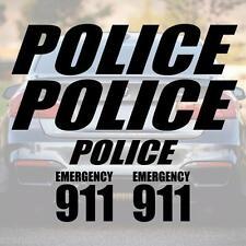 XXL SET POLICE Schriftzug Aufkleber Schrift Polizei decal POLIZEI COPS SHERIFF