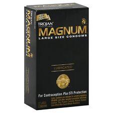 Trojan Magnum Condoms Lubricated 12 ct