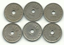 A Higher Grade Lot Of 5 Norway 10 Ore Coins-1924,1926,1941,1946 ,1947,1949-Jan382