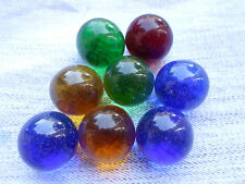 8 CT MARBLE KING AMERICAN MADE GLASS MARBLES - BOWLERS USA - NEW OLD STOCK
