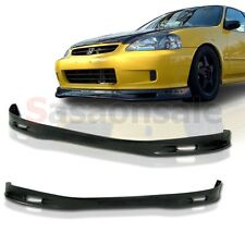 Made for 1999-2000 Honda Civic Coupe Sedan Spoon Style Front PU Bumper Lip