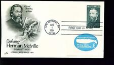 1984 FDC - Scott# 2094 COMBO - Herman Melville - Art Craft Cachet    UA