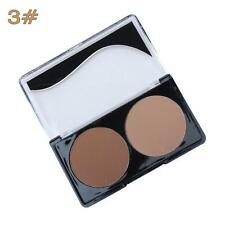 2-Colors Contour Shading Pressed Powder Bronzer Highlighter Makeup Palette 3# ED