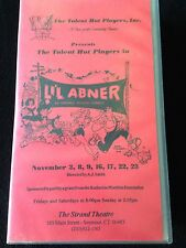 Lil Abner Talent Hut Players 1996 Vhs The Strand Theatre Seymour Ct Rare
