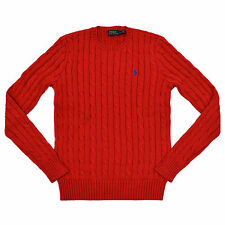 Polo Ralph Lauren Womens Sweater Cable Knit Pullover Crew Neck Pony Logo New