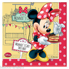 20 Disney Minnie Mouse Cafe Birthday Party 33cm Disposable Napkins Serviettes
