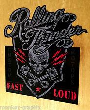 Rolling Thunder Bikes Oldschool Aufkleber Vintage Sticker V2 Chopper Bobber