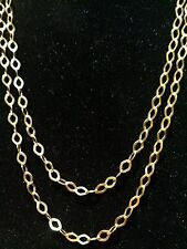 """STUNNING LUXURIOUS MILOR ITALY 18K YELLOW GOLD 40"""" LONG CHAIN NECKLACE"""