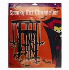 HALLOWEEN SPOOKY BAT CHANDELIER DECORATION PROP BATS PARTY FOIL HANGING VAMPIRE