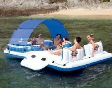 12FT Huge Bestway 4/6 Person Inflatable Floating Island Lounge Chair Lounger