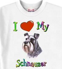 Big Dog T Shirt I Love My Schnauzer Animal Friend Family Men Women Adopt Cat # 2