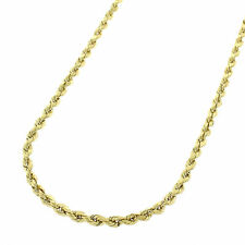 """10kt SOLID Gold Diamond Cut ROPE Pendant Chain/Necklace 24"""" 2mm 5.7 grams"""