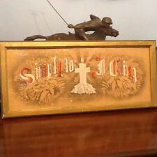 Antique Punch Paper Needlepoint - Framed - Ca. 1815