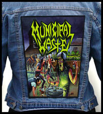 MUNICIPAL WASTE - The Art of Partying  --- Giant Backpatch Back Patch