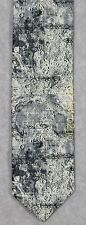 MOON LANDING MAP--CRATERS APOLLO ASTRONOMY SCIENCE Wild Ties Microfiber Necktie