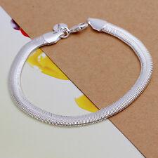 """Hot 925Sterling Silver Lovely Snake Chain 8"""" 6mm Bracelet US Ship"""