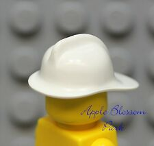NEW Lego City minifig Fire Fighter WHITE HELMET hat
