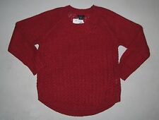 NWT Womens CALVIN KLEIN Long Sleeve Chunky Round Neck Sweater PERSIAN RED Sz XXL