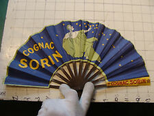 Vintage Original POSTER FAN: COGNAC SORIN  1920's awesome SO COOL
