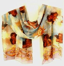 Albertazzi 100% Luxurious Sheer Polyester Elegant Design Scarf, Made in Italy!