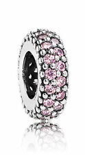 Pink CZ Inspiration Within Spacer 791359PCZ--Authentic Pandora Charm Bead