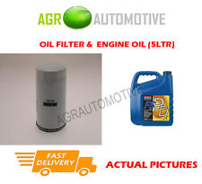 PETROL OIL FILTER + FS PD 5W40 ENGINE OIL FOR FORD GALAXY 2.3 145 BHP 1996-02