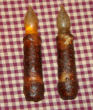 """2~4.5"""" Cinnamon Battery LED Taper Candles Rustic Primitive Country Flameless Saf"""