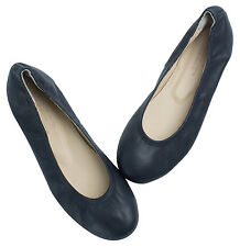 AnnaKastle Womens Round Toe Genuine Leather Comfort Ballet Flat Shoes US 5 6 7 8