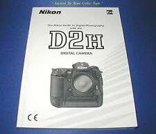 New Original Nikon D2H 250 Page Owners Manual Written In English