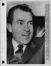 Vice President Richard M. Nixon 1960 Press Photo