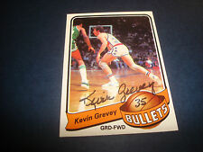 Kevin Grevey 1979-80 Topps #34 Bullets Kentucky Signed Authentic Autograph N13