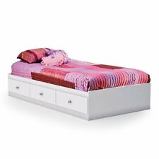 South Shore Crystal Mates Twin Platform Bed, White, Twin