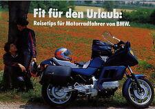 Prospekt BMW Motorrad 80er Jahre Fit für den Urlaub R80RT R100RS  R80GS R100RT