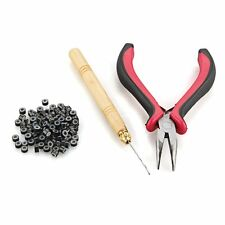 Hair Extension Plier Hook Tool Kit + Micro Link Beads PS
