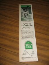 1953 Print Ad Quaker State Motor Oil Mark Twain's Home Hannibal,MO