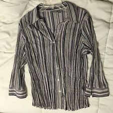Apt 9 Size axial Uniquely Textured Button Up Shirt Top