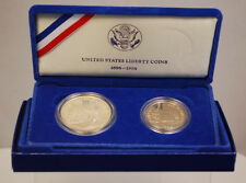 1986 US Mint $1 Dollar & Half Statue of Liberty Commemorative 2 Coin Set Proof