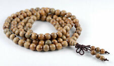 6mm 108PCS Green Sandalwood Verawood Mala Meditation Loose Beads Round 25""