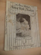 OLD ANTIQUE crafts 1910 MAGAZINE clothes sewing PARIS JOURNAL FANCY WORK FASHION