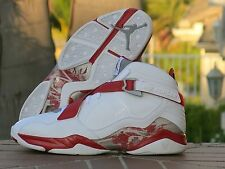 Nike Air Jordan 8.0 White/Metallic Silver-Varsity/Red-Stealth 467807-101 SZ 10.5