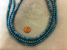 """Three Different Shaped 16"""" Strands Resin Faux-Turquoise-Cubes, Bamboo, Round"""