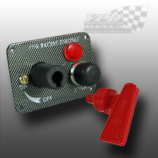 IGNITION ENGINE ISOLATION SWITCH WITH START BUTTON RACING CARBON EFFECT PANEL