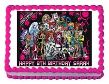 MONSTER HIGH edible party decoration cake topper cake image frosting sheet