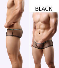 Sexy Men Underwear Mesh Briefs Shorts transparent Boxer Underpants Trunks