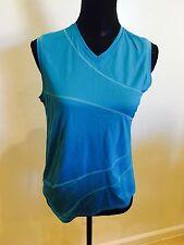 LULULEMON Vintage OG Women's Blue V Neck Sleeveless Top Size 10 M