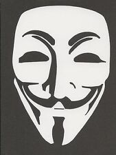 Anonymous Mask Guy Fawkes V for Vendetta Guido Sticker Decal Bumper