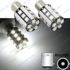 2x 21W Xenon White 7507 PY21W 50-SMD LED For Cars Turn Signal Corner Bulbs