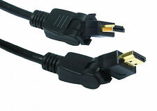 1m HDMI SWIVEL GOLD CABLE 1.4 180 Degree Angle Angled Adaptor Adapter Lead 1 MTR