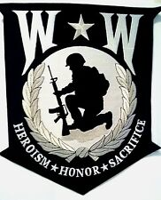 """Wounded Warrior Heroism Honor Sacrifice Patch  12"""" x 10 1/2"""""""