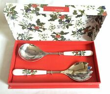 Portmeirion Holly and Ivy Salad Servers NEW and UNUSED